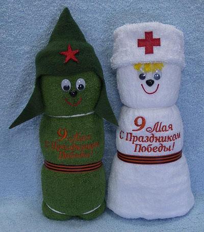 Красиво оформить полотенце на подарок